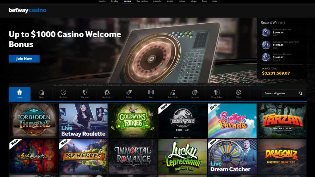 Betway casino usa